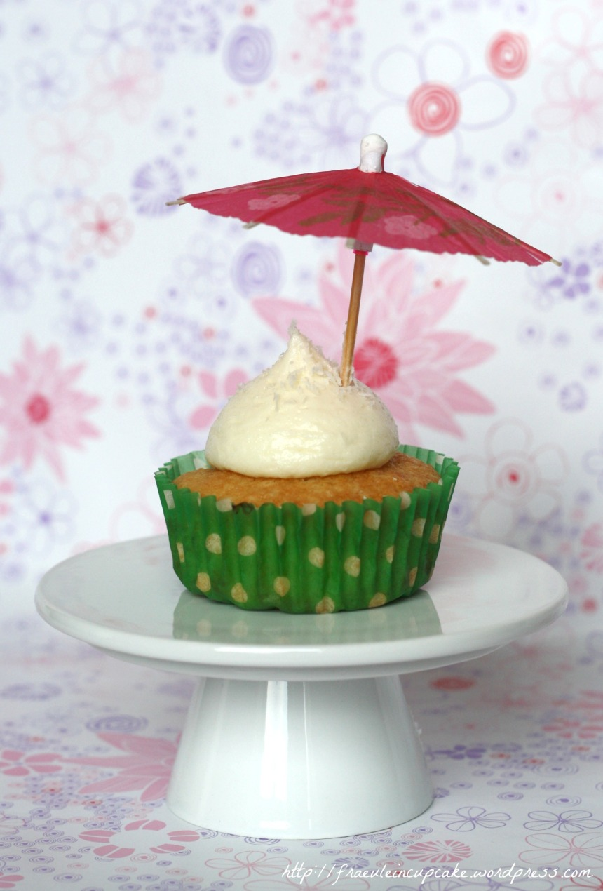 Pina Colada Kokos Ananas Cupcakes