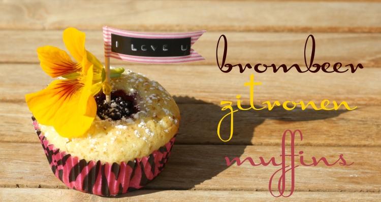 Brombeer Zitronen Muffins
