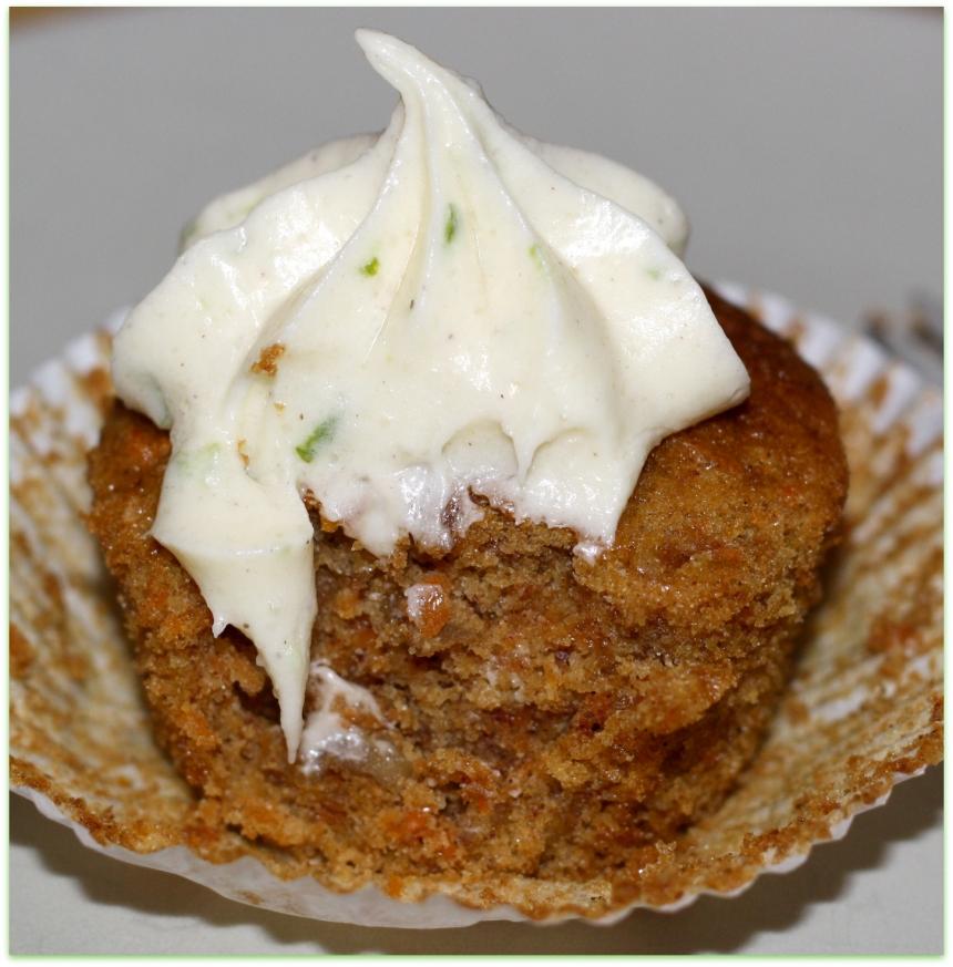 Zucchini Cupcakes Limetten Frischkäse Frosting