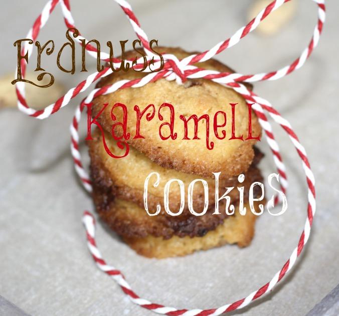 Erdnuss Karamell Cookies