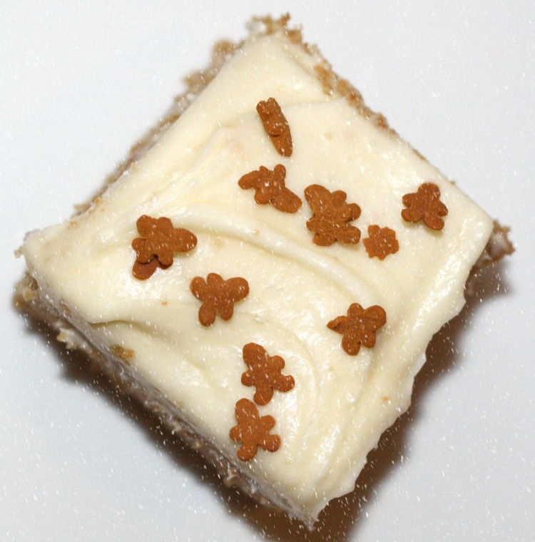 Lebkuchen Brownies mit Orangen Frischkäse Frosting