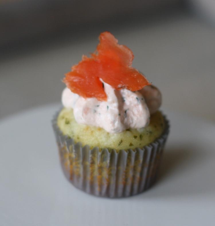 Cupcakes Lachs Fetakäse