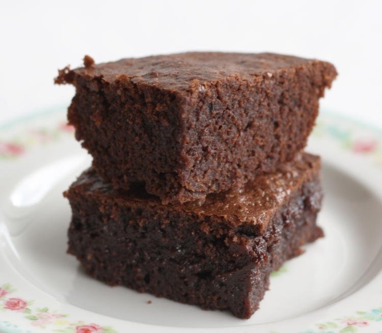 baked brownie