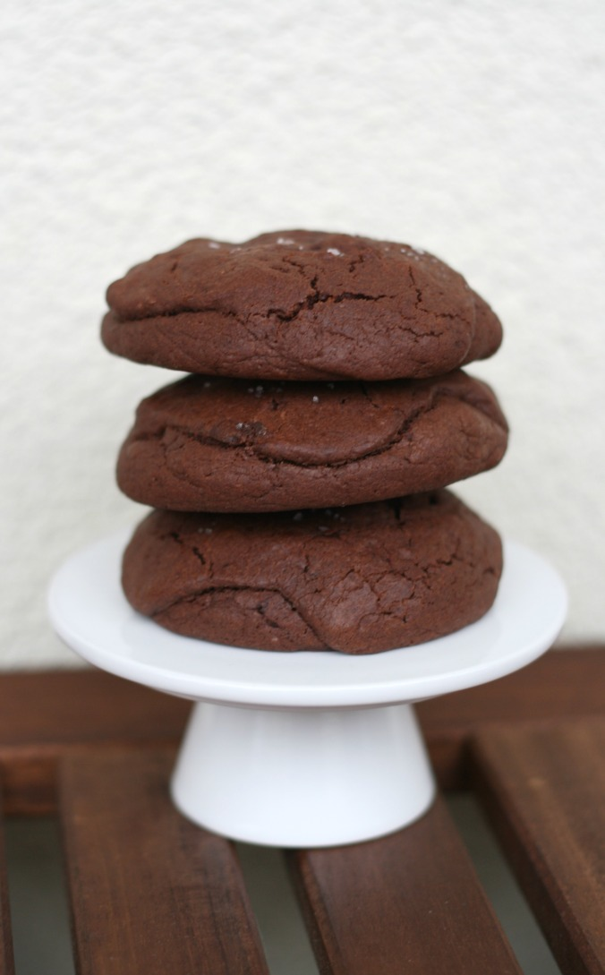 Salted Caramel & Nutella Stuffed Double Chocolate Chip Cookies