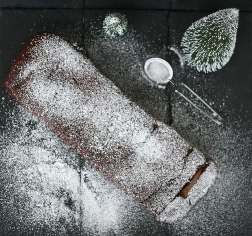 Rotwein Brownies pochierte Birnen