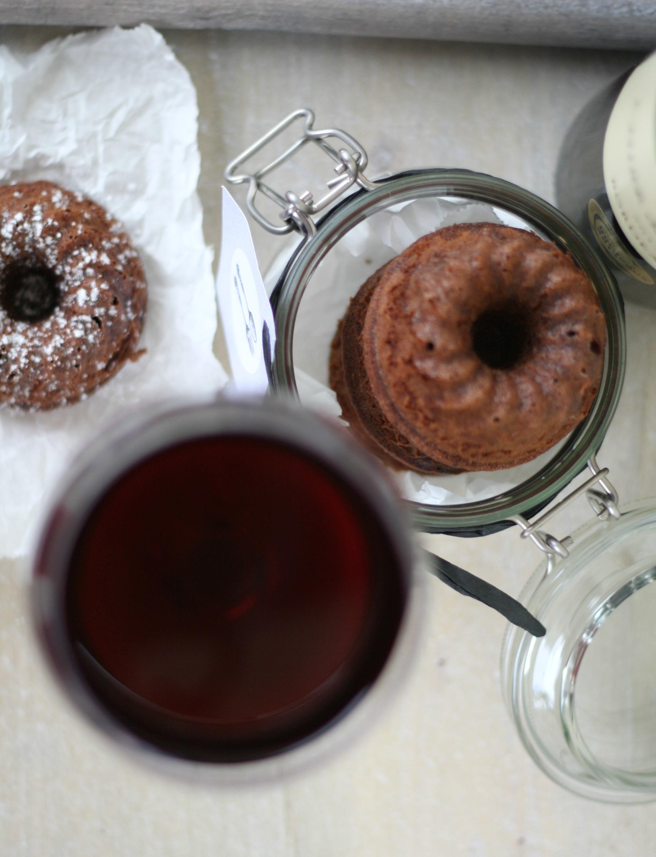 Mini Rotweingugelhupf Gugelhupf Kuchen