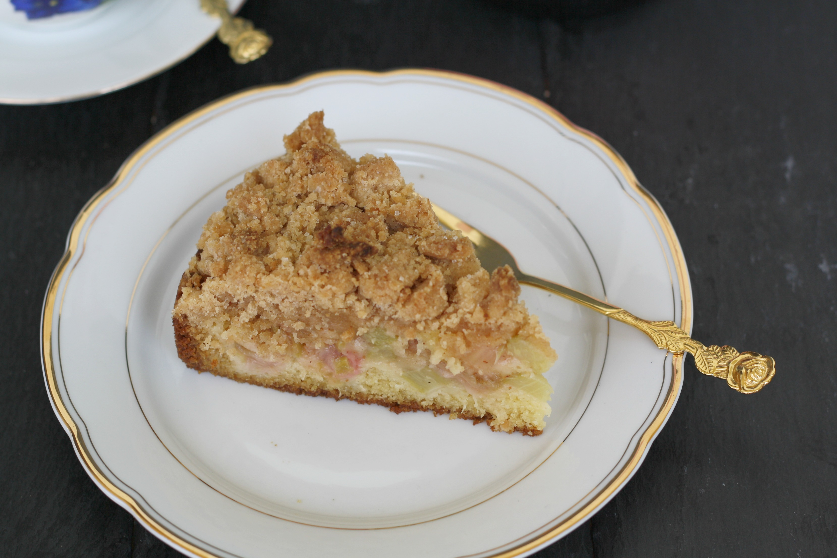 Rhabarber Streusel Kuchen