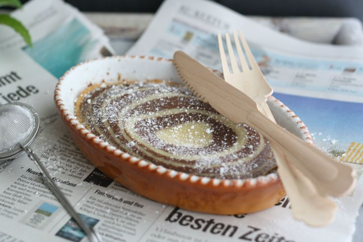 Zebra Dutch Baby Oven Pancake