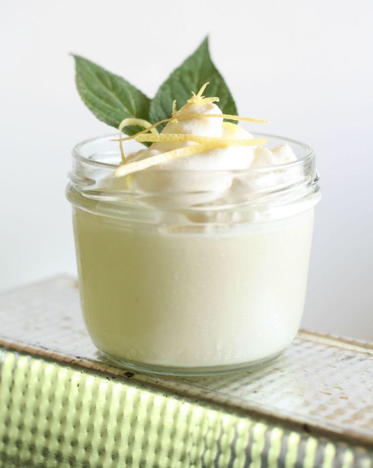 Zitronen panna cotta