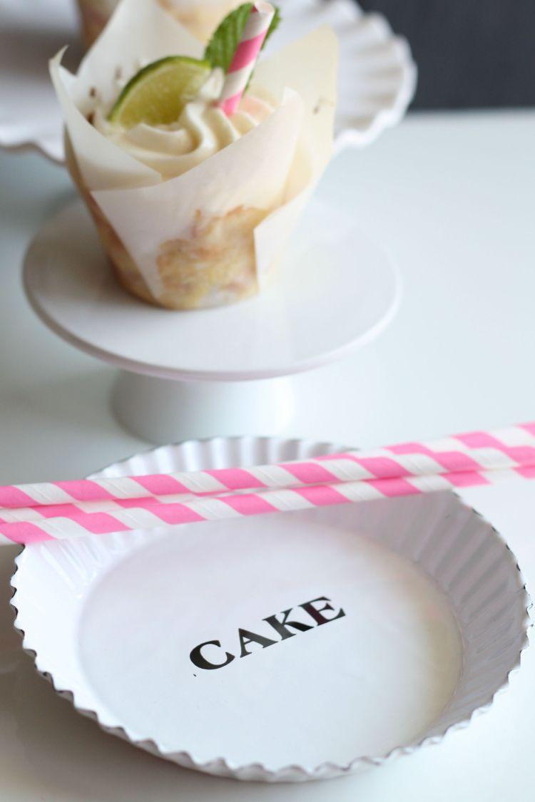 Pfirsich Limetten Cupcakes Frischkäse Frosting