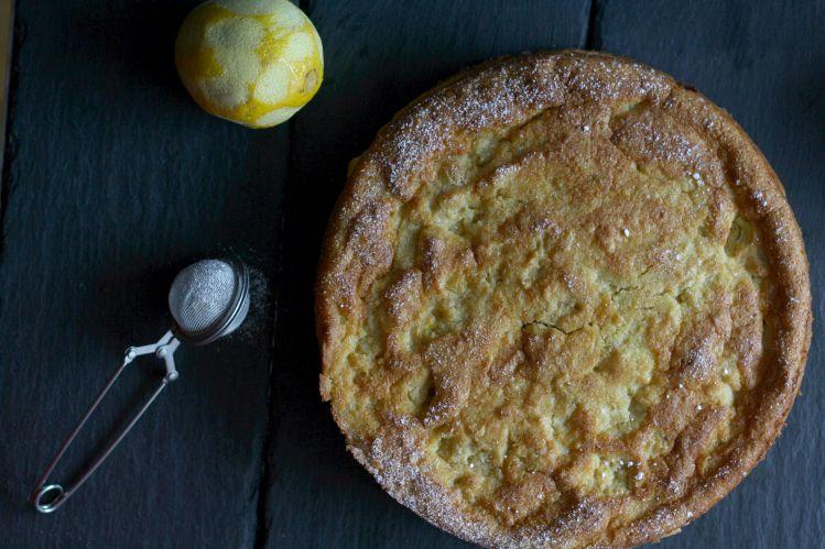 glutenfreier Apfel Polenta Kuchen Torte