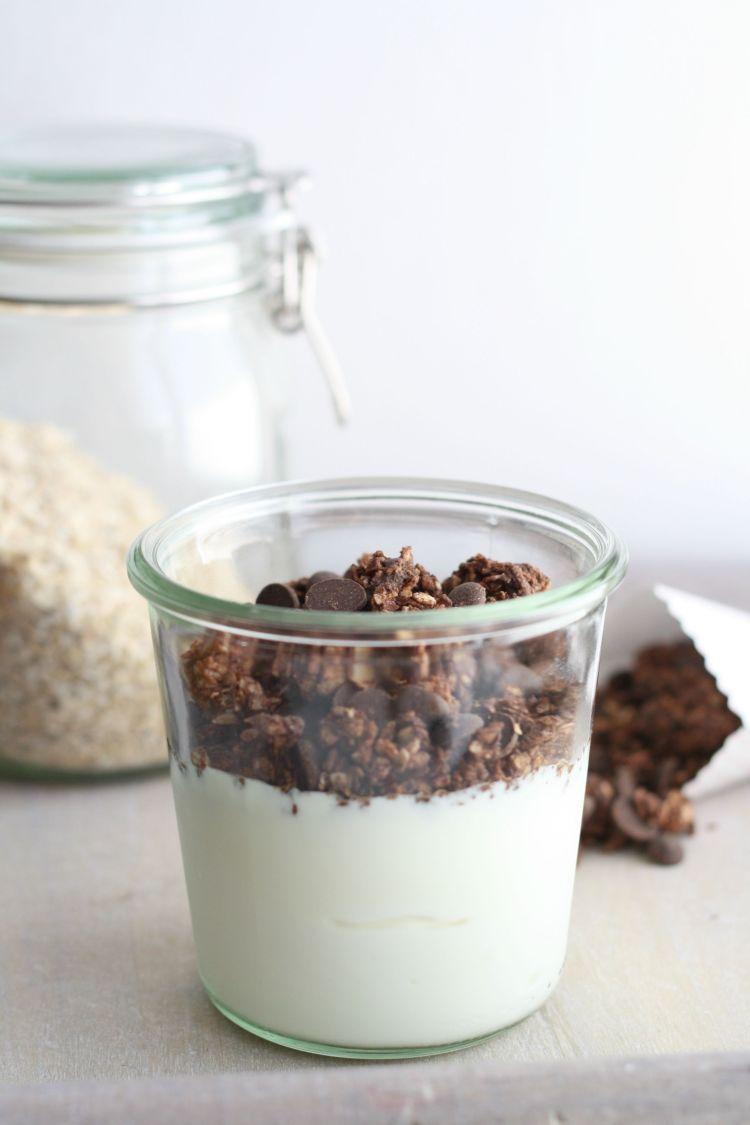 Schokolade Granola Müsli