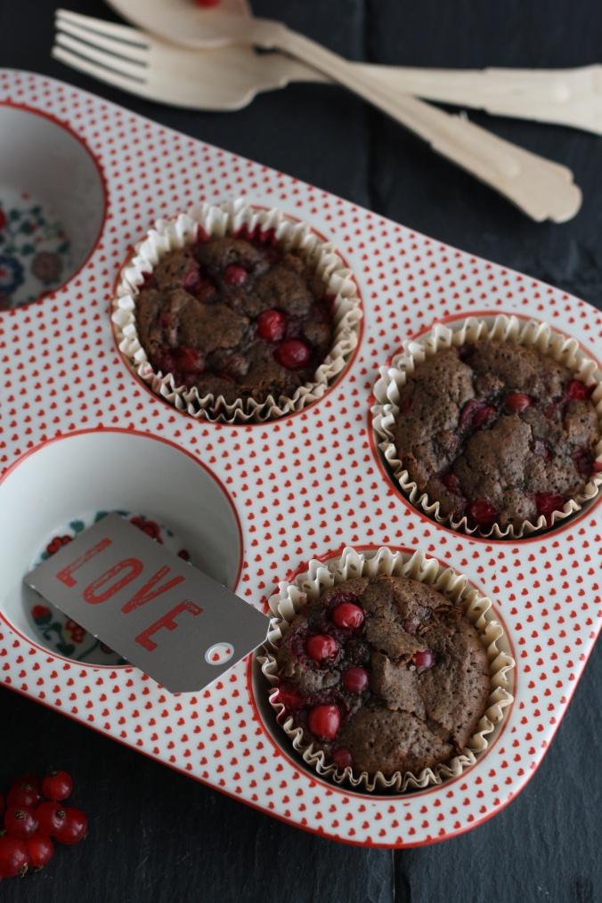 Ribisel Schoko Mohn Muffins