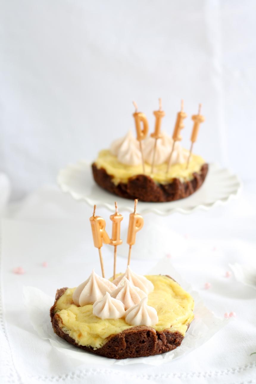 Himbeer Cheesecake Brownie Tarte Käsekuchen Tartelette Topfen Törtchen Schokolade Himbeer Frosting