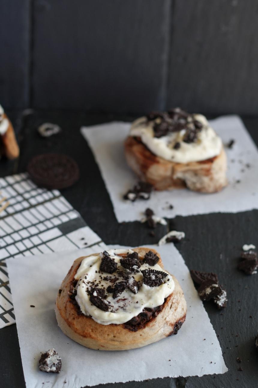 Oreo Rolls Schnecken Zimtschnecken Schokolade Germteig Hefeteig