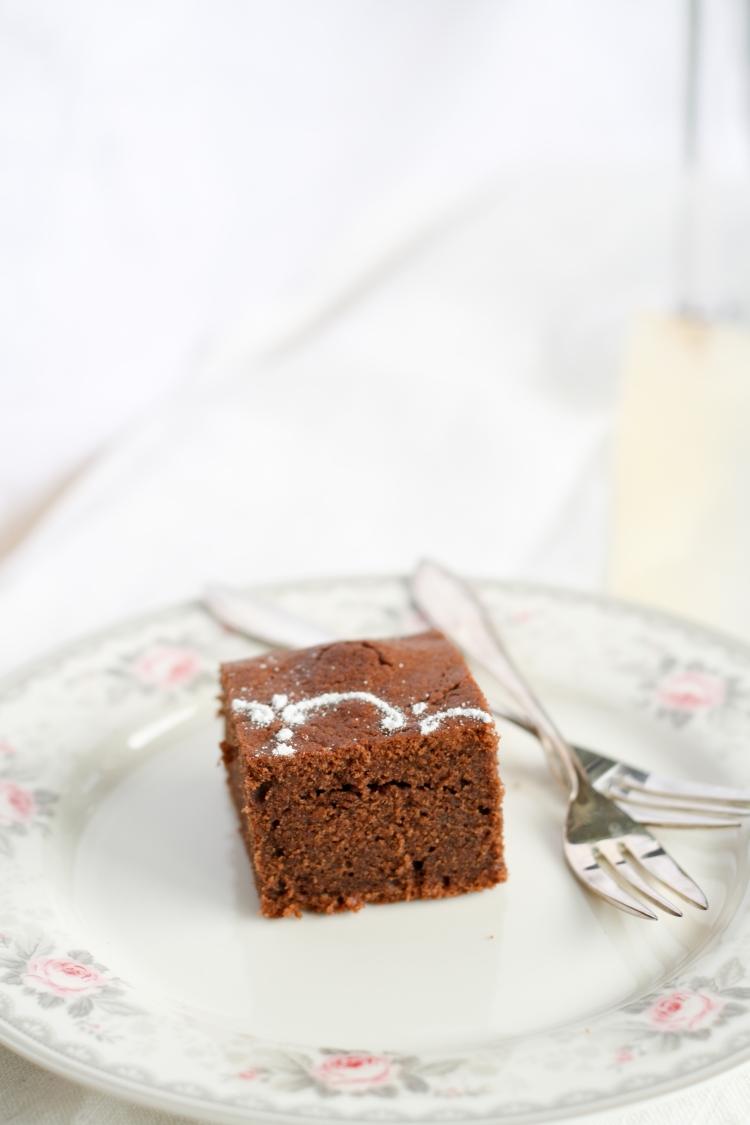 Rotweinkuchen Brownie Schokolade Rotwein Kuchen