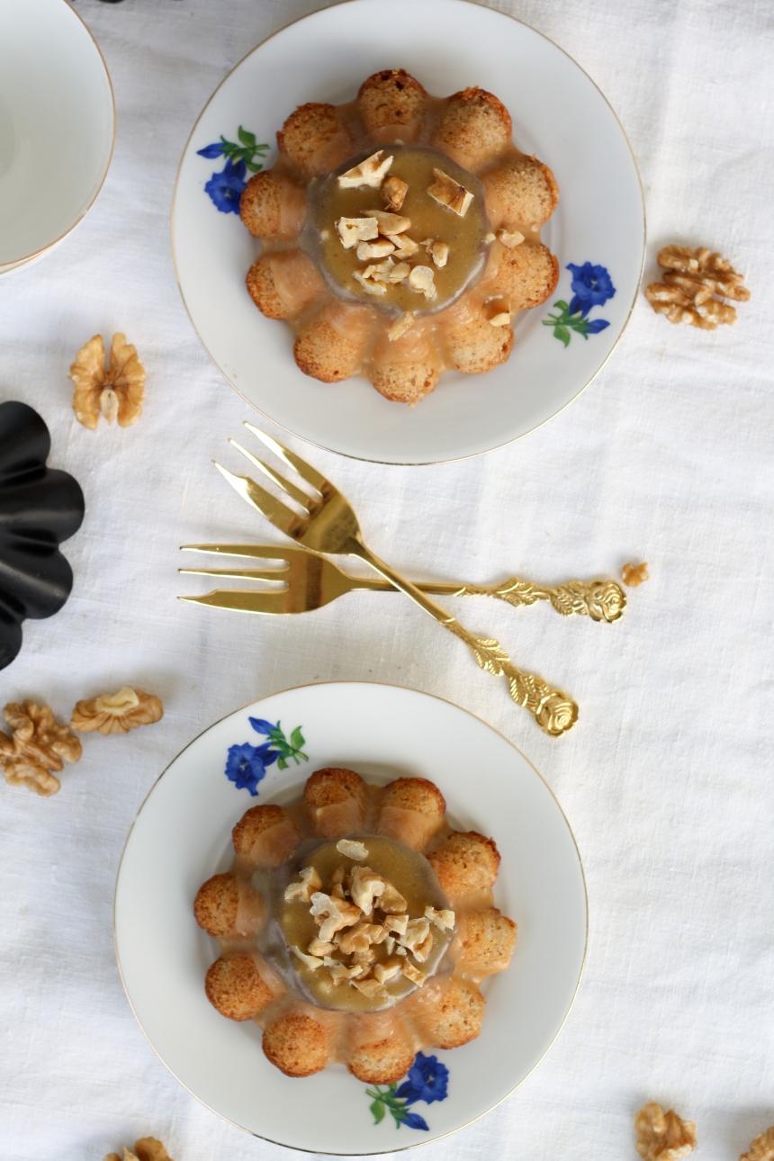 Bananenkuchen Walnuss Karamell Bananenbrot