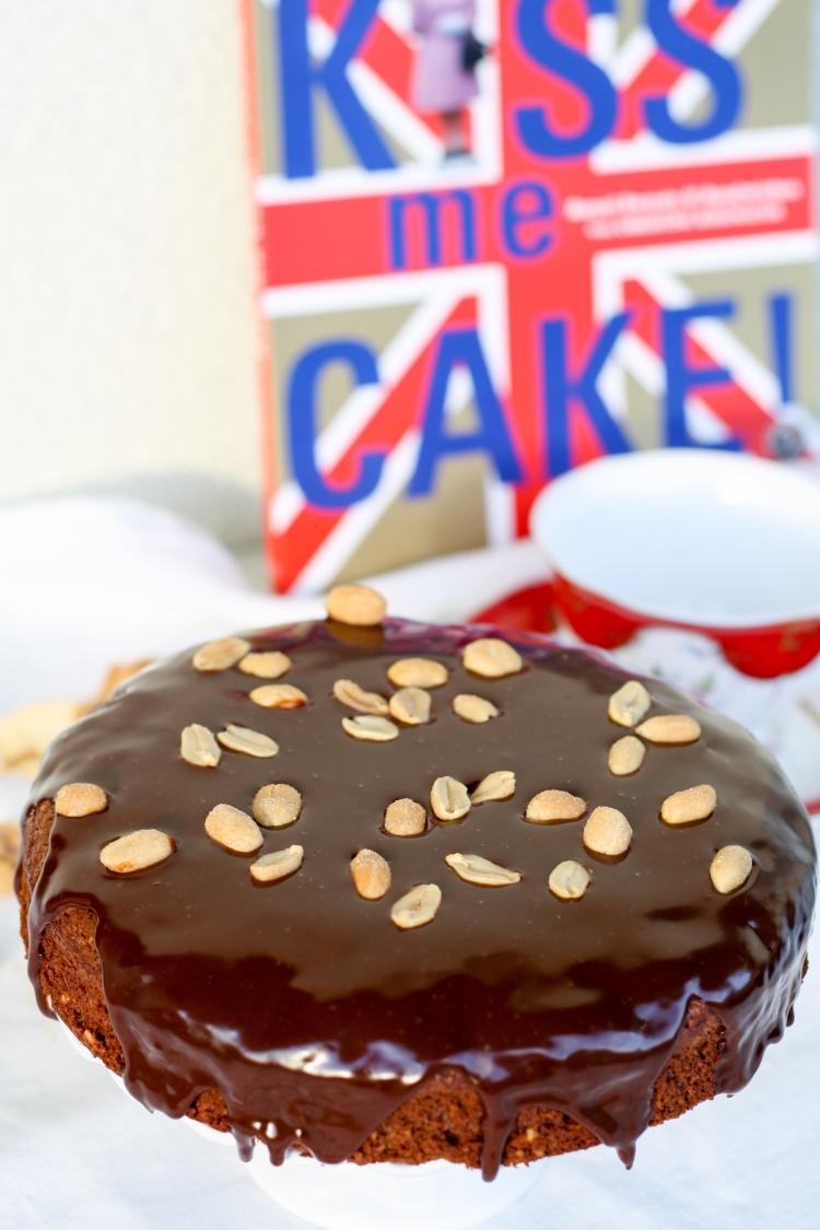 Erdnuss Brownie Schokolade Torte Erdnüsse Glasur Ganache