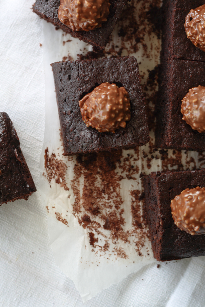 Haselnuss Brownies Ferrero Rocher