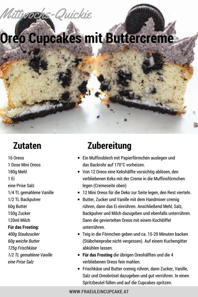 Oreo Cupcakes Buttercreme