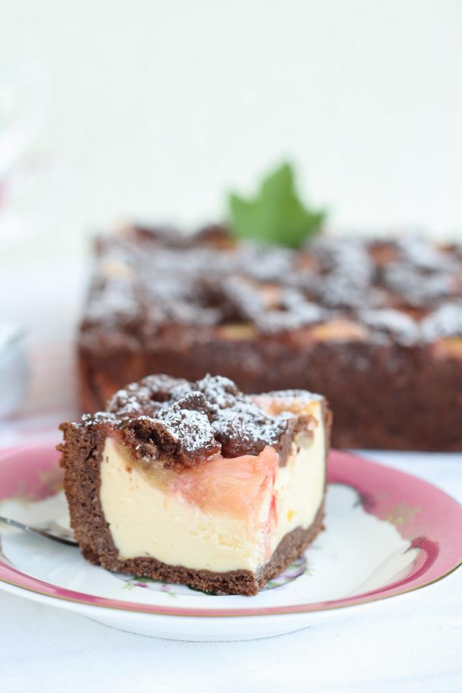 Rhabarber Streusel Kuchen mit Kakao-12