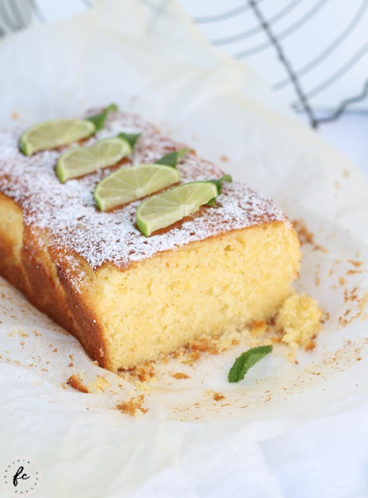 Limetten Buttermilch Kuchen-11