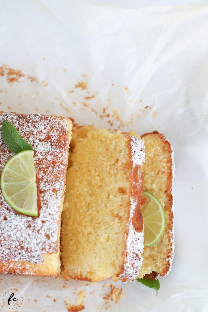 Limetten Buttermilch Kuchen-15