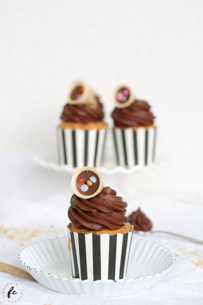 Schoko Haselnuss Cupcakes-8
