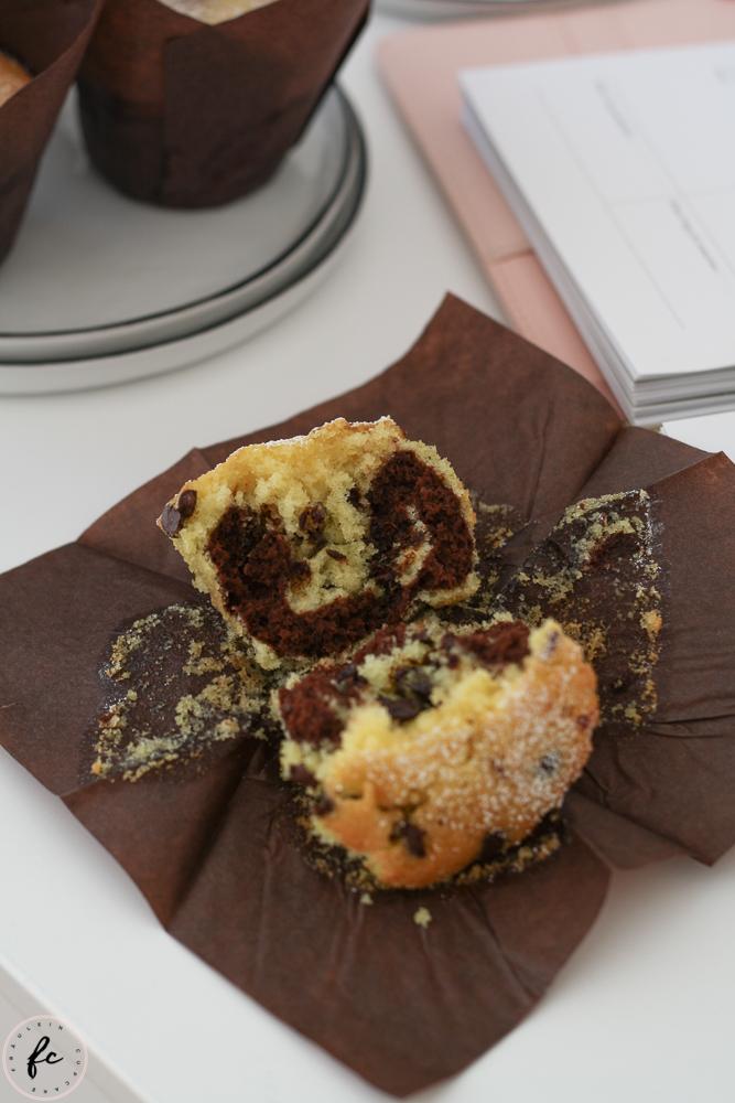 Marmor Muffins mit Schokodrops und Nutella-10