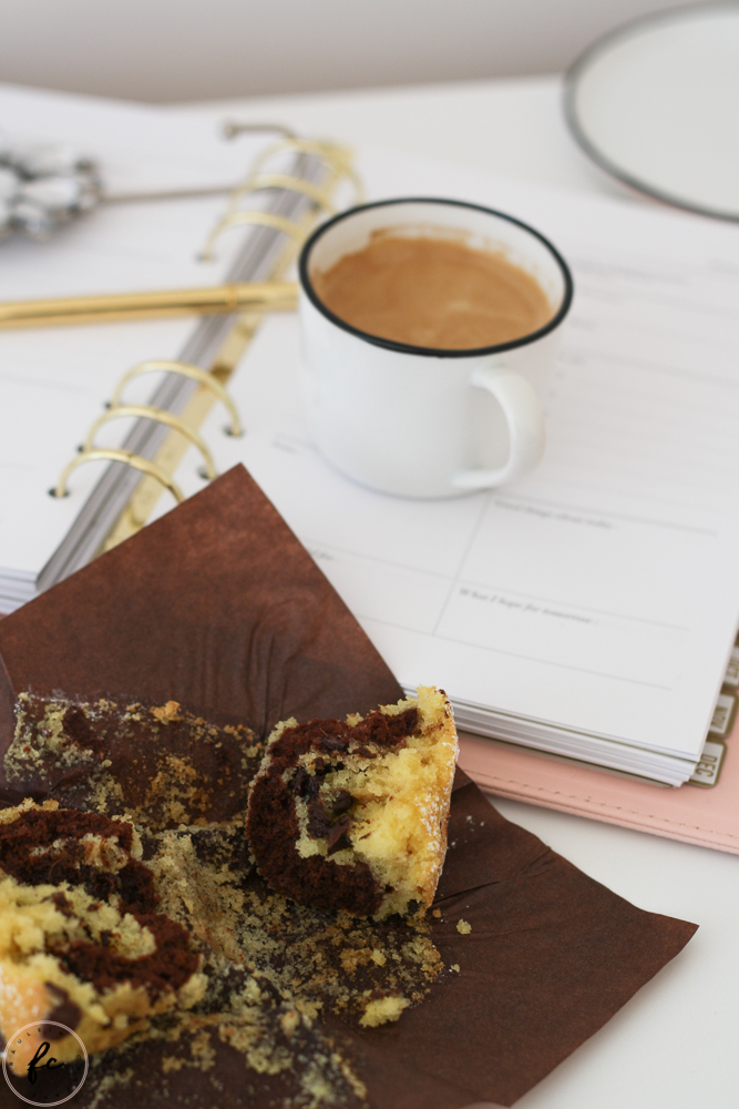 Marmor Muffins mit Schokodrops und Nutella-14