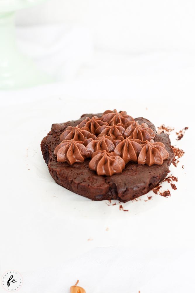 Double chocolate Himbeer Brownies mit Frischkäsefrosting-3