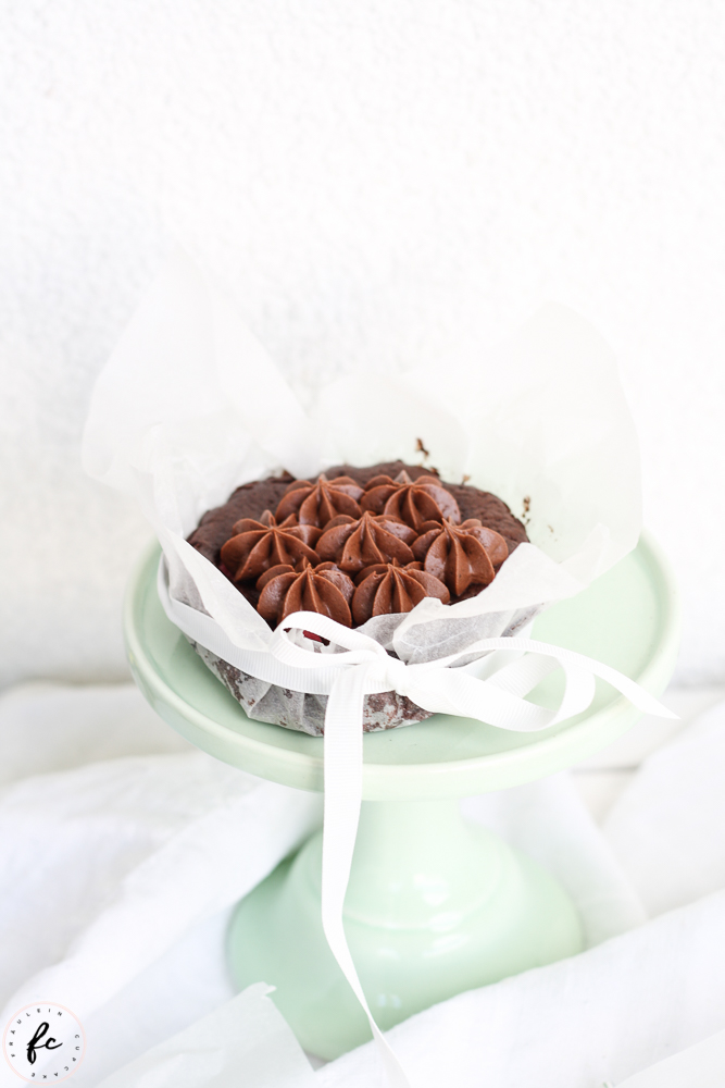 Double chocolate Himbeer Brownies mit Frischkäsefrosting-5