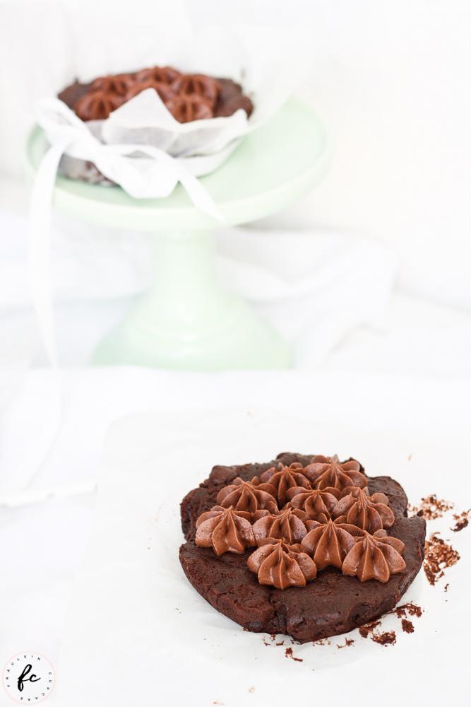 Double chocolate Himbeer Brownies mit Frischkäsefrosting-7
