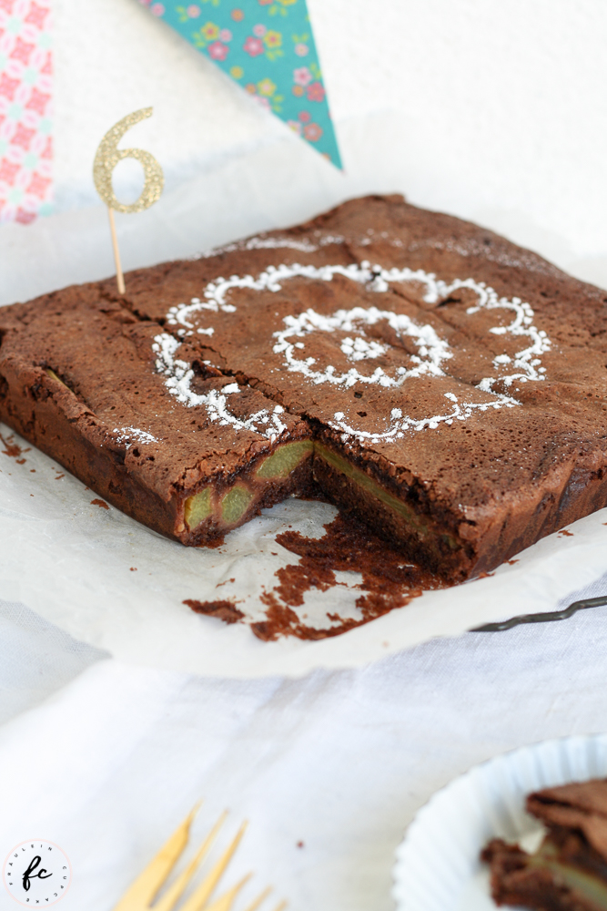 Schoko Rhabarber Kuchen-5