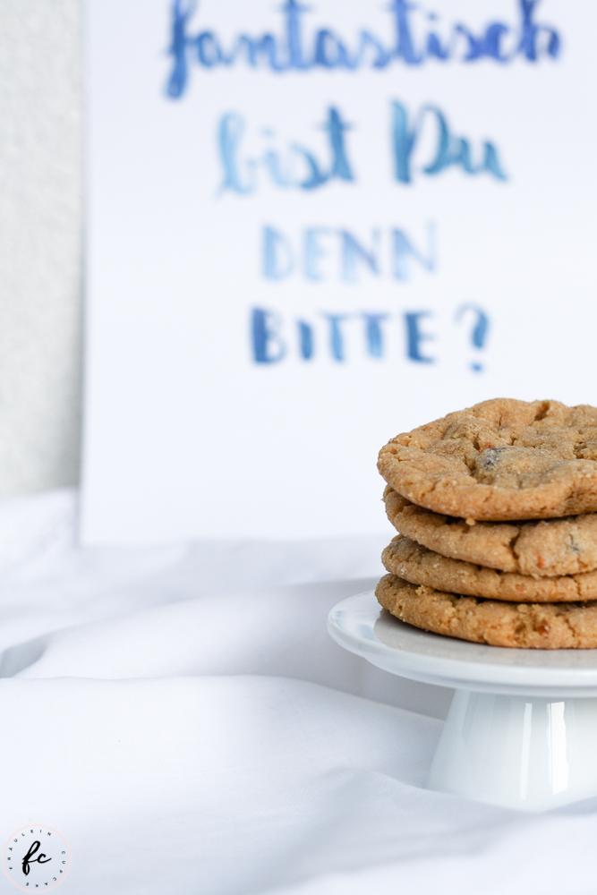 Erdnussbutter Cookies mit Schokostückchen-8