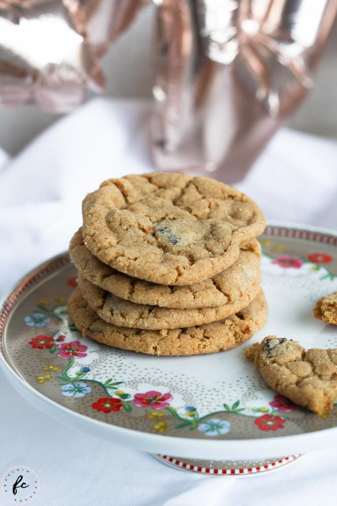 Erdnussbutter Cookies mit Schokostückchen