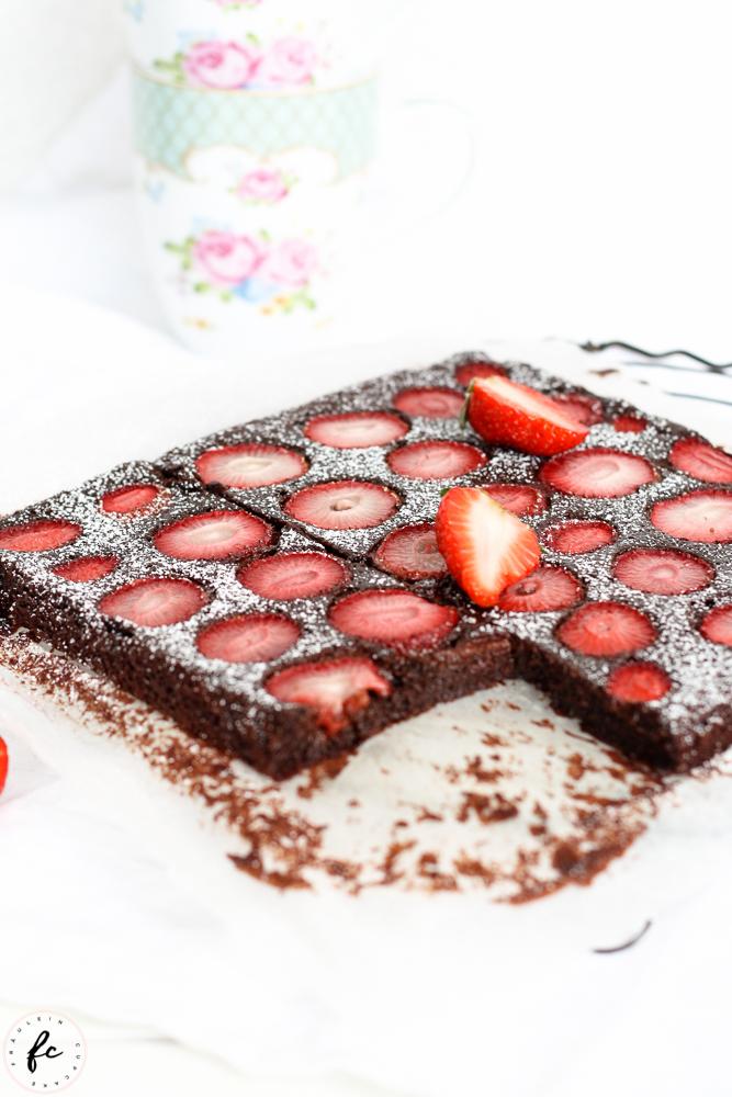 glutenfreier Erdbeer Brownie_-4