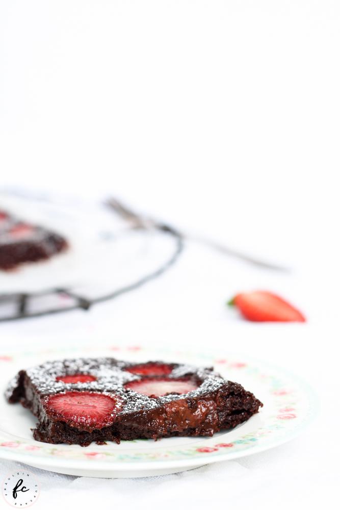 glutenfreier Erdbeer Brownie_-5