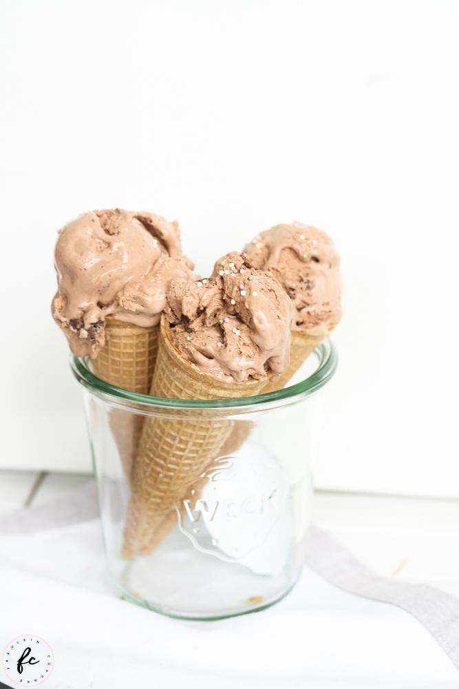 Nutella Eis mit Brownies-2
